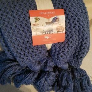 Opalhouse blue throw blanket
